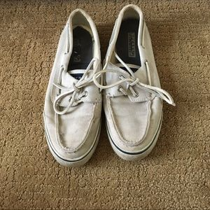 Sperry top-sider boat shoes | cream